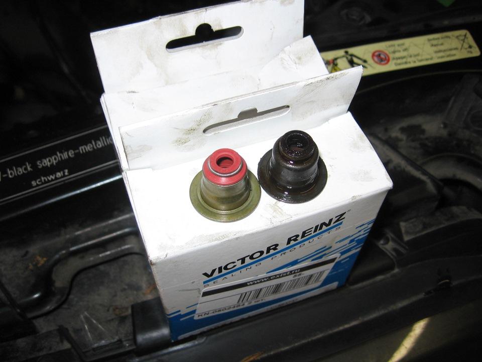 Замена маслосъемных колпачков без снятия головки опель