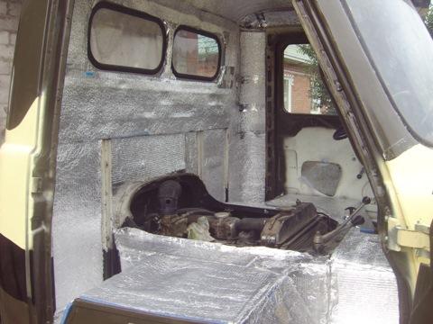 Как утеплить кабину уаз 3303 своими руками