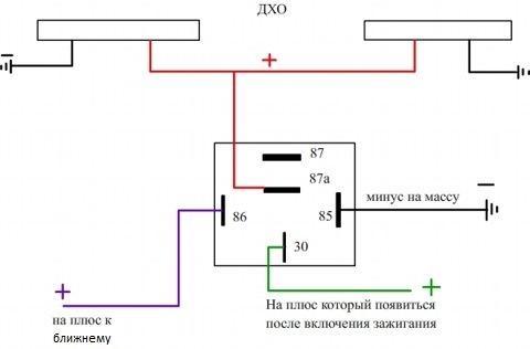 Схема подключения ДХО