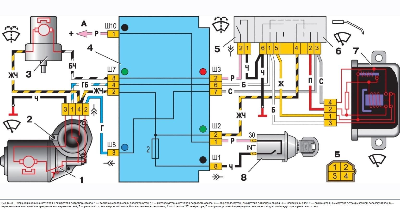 Ваз 2112 задний стеклоочиститель схема
