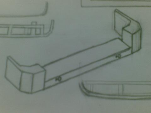 чертежи бампера на уаз.