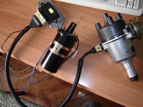 Цена вопроса: 1 500 рублей.  В ходе эксплуатации было решено поставить бесконтактную систему зажигания.