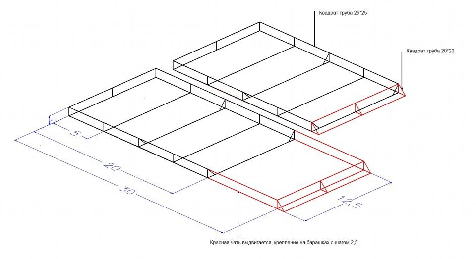 Багажник на крышу уаз буханка своими руками чертежи с размерами