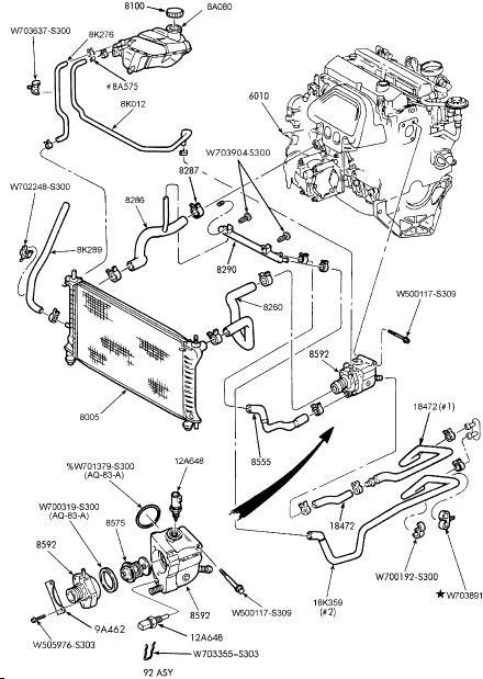 Схема двигателя на форд фокус