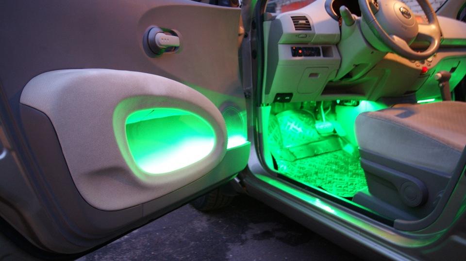Подсветка салона автомобиля своими руками фото