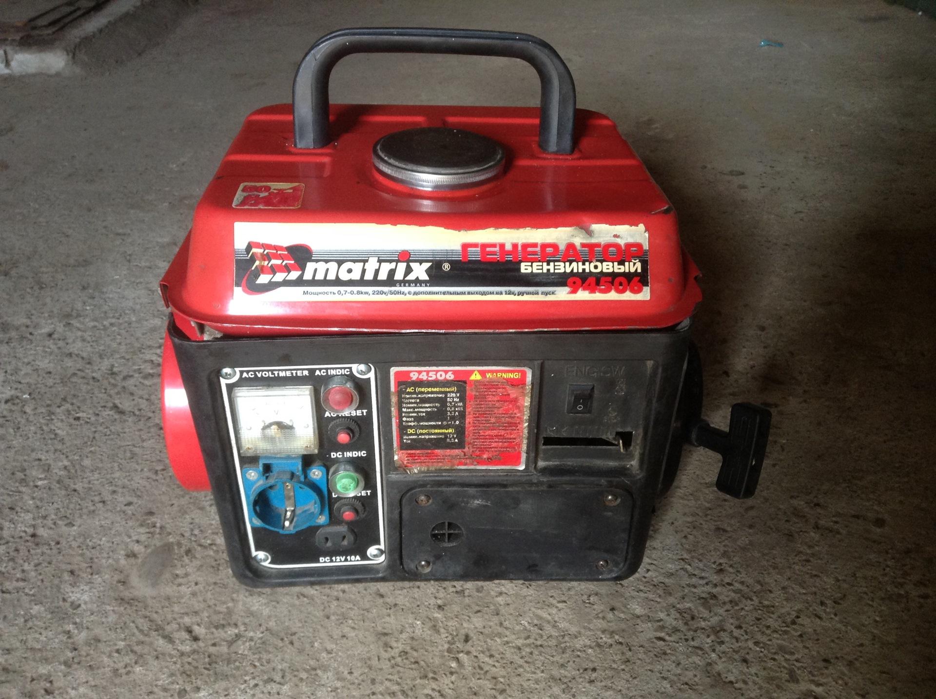 Бензиновые генераторы matrix лучший сварочные инверторные аппараты цена