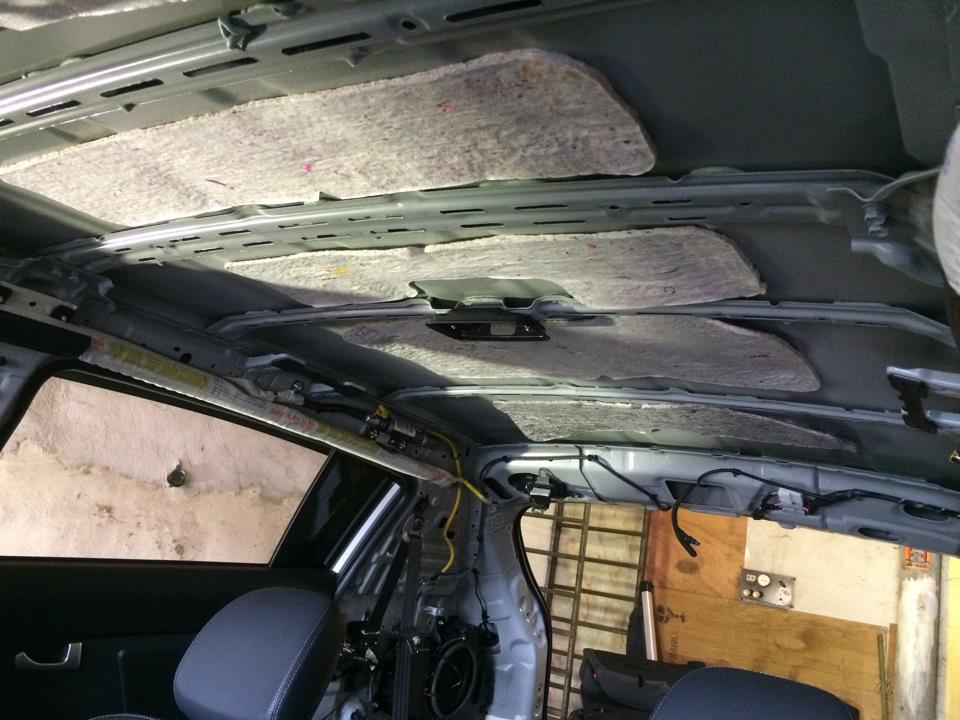 как снять потолок киа спортейдж 3