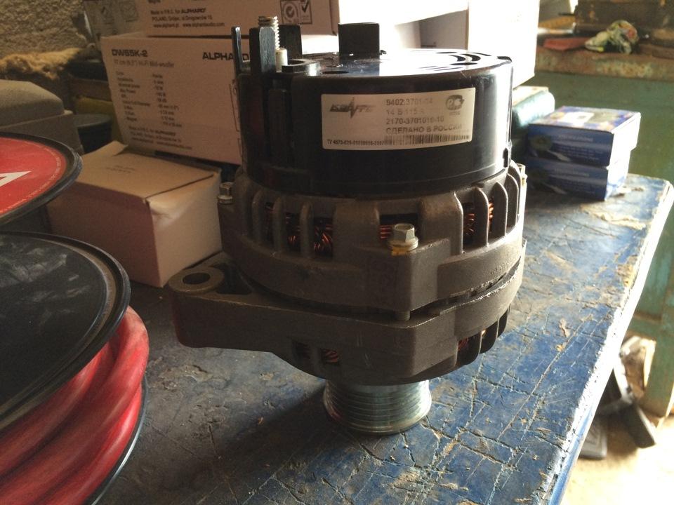 Установка генератора 115а на ваз 2114