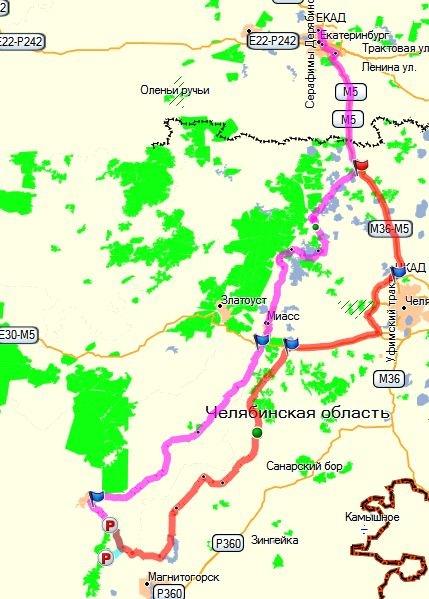 Карта маршрутов: лиловый