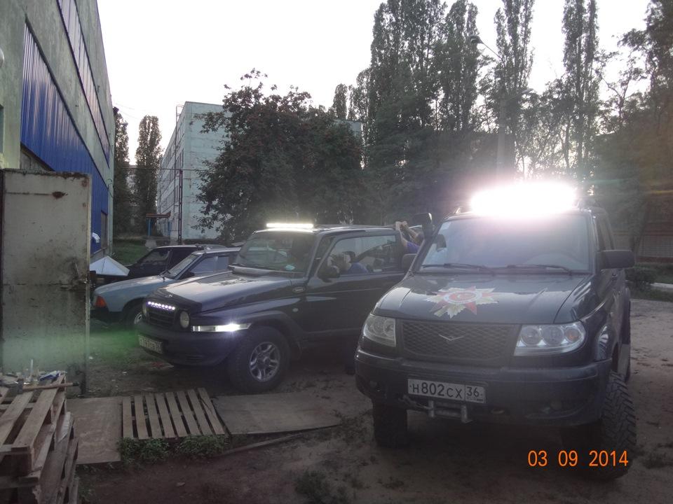 Самодельная светодиодная балка на авто