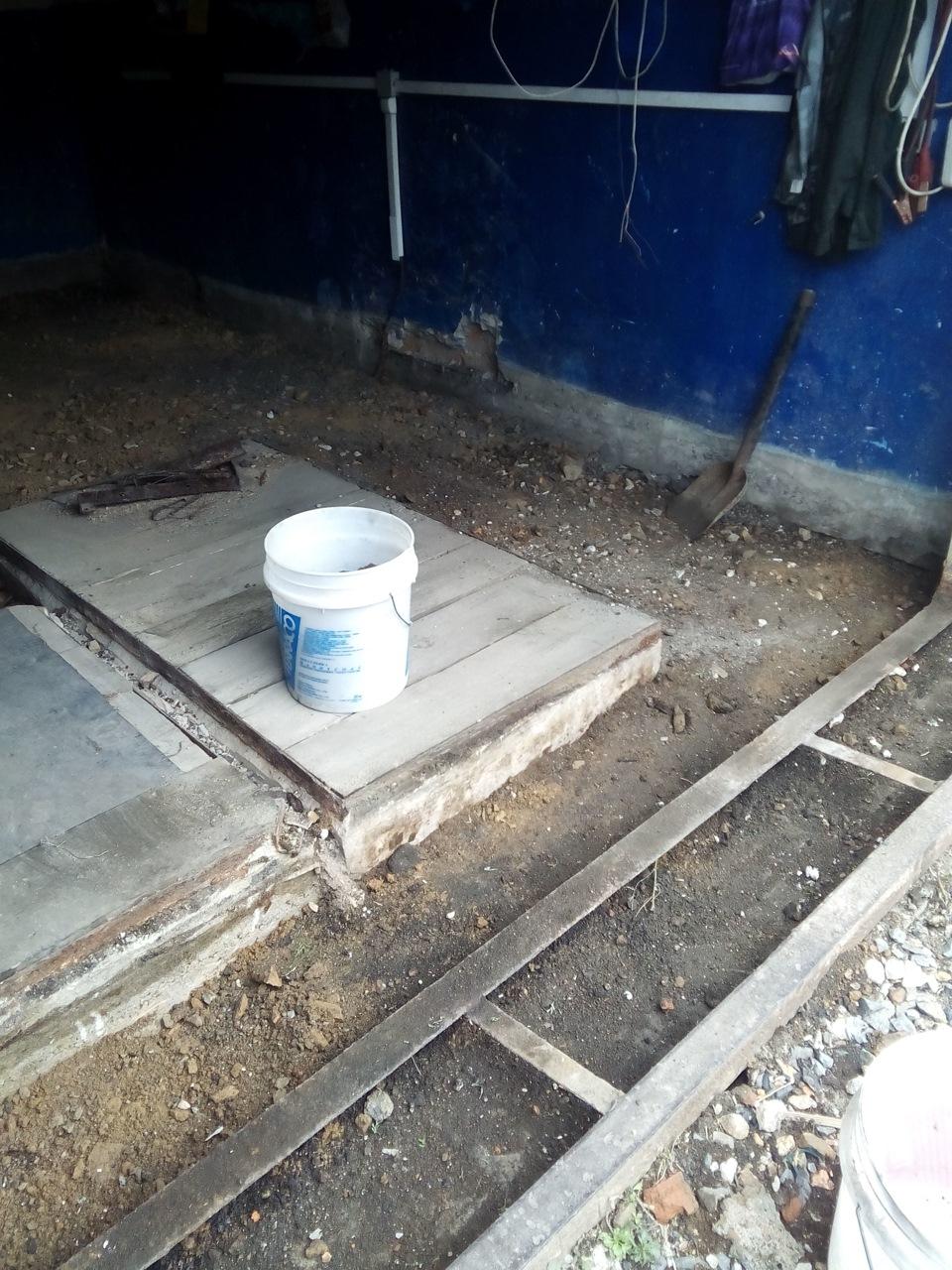 ремонт полов в гараже
