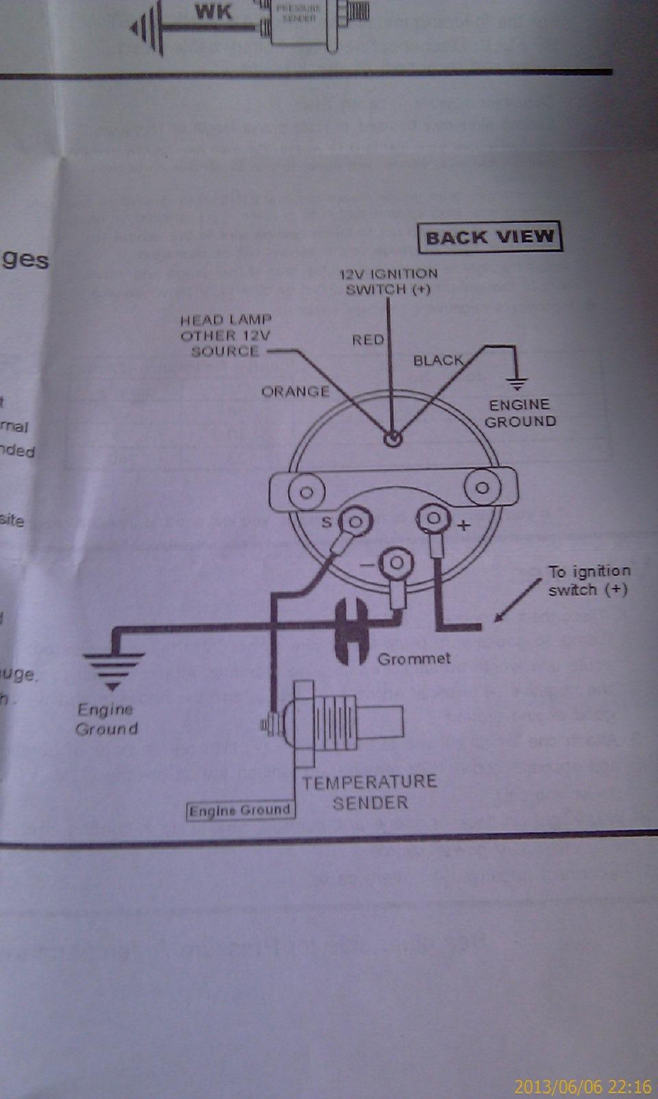 Схема подключения приборов autogauge