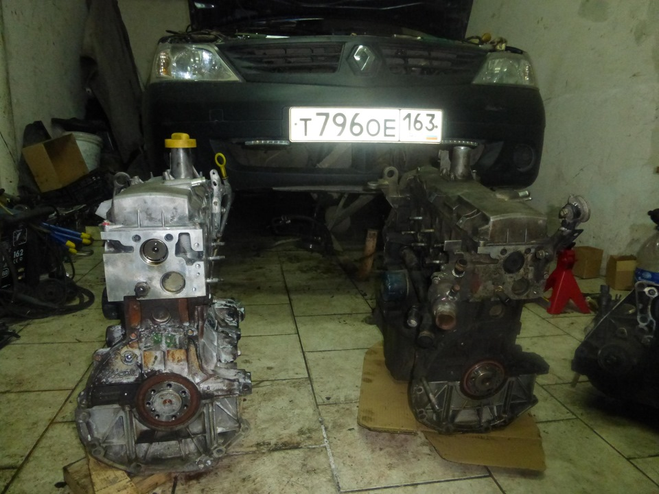 renault замена двигателя