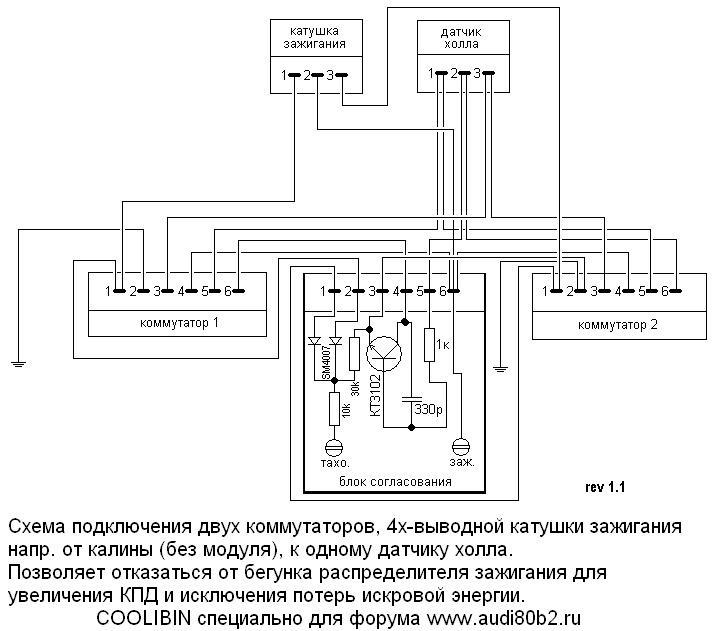 Схема подключения коммутатора газ