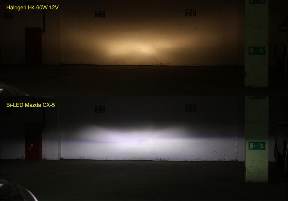 mazda cx 5 afls led vs halogen h4 vs al bosch modded hid hidplanet the official automotive. Black Bedroom Furniture Sets. Home Design Ideas