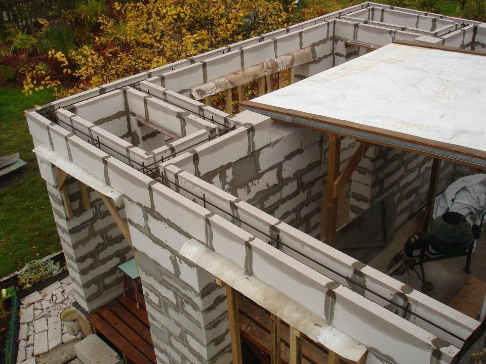 Как сделать балкон в доме из газобетона.