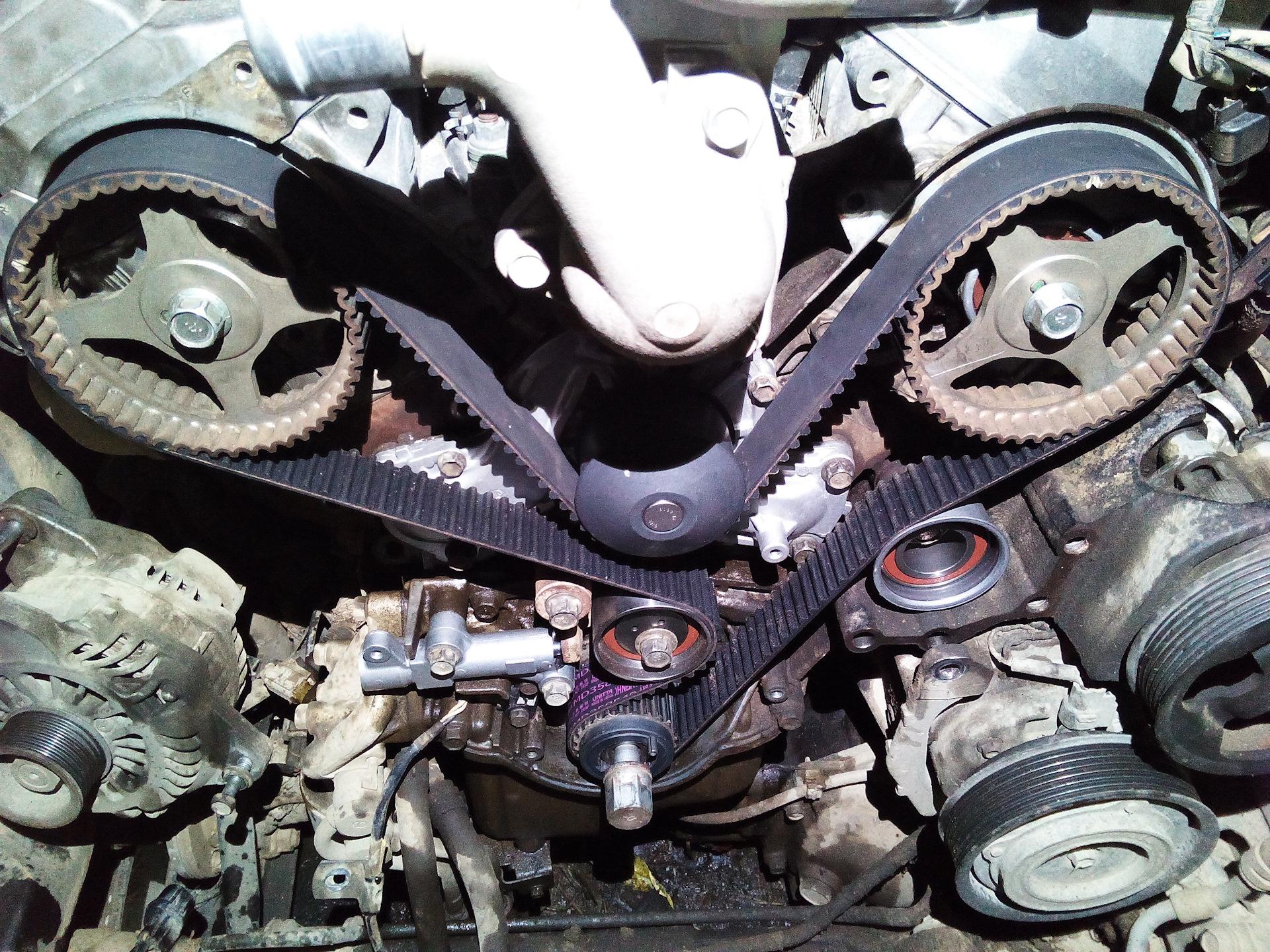Замена ремня ГРМ на Паджеро 4 3,8 - бортжурнал Mitsubishi Pajero 3.8 2010 года на DRIVE2