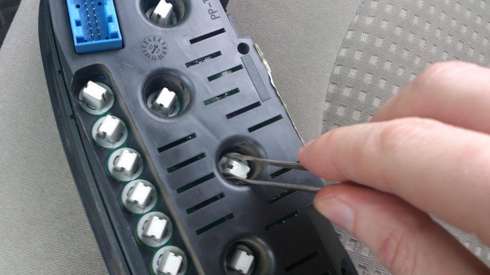 замена подсветки приборной панели ситроен ксара пикассо