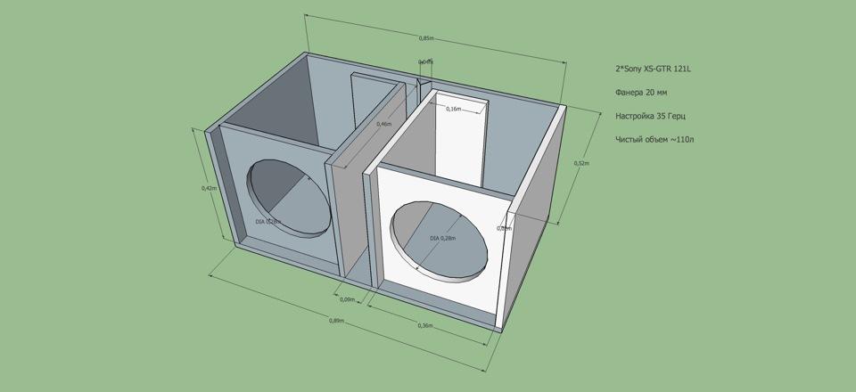 Надумал собирать новый ФИ короб на 2 динамика Sony xs-gtr121l - бортжурнал Лада Гранта ? ? ? ? ? on BBS 2012 года на DRIVE2
