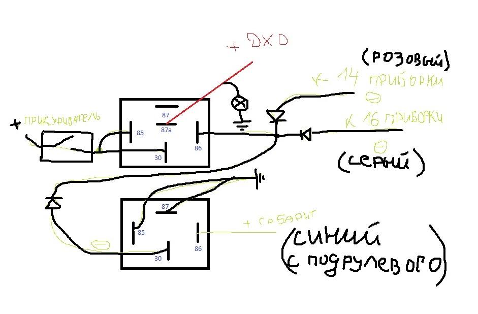 вот рабочая схема установки