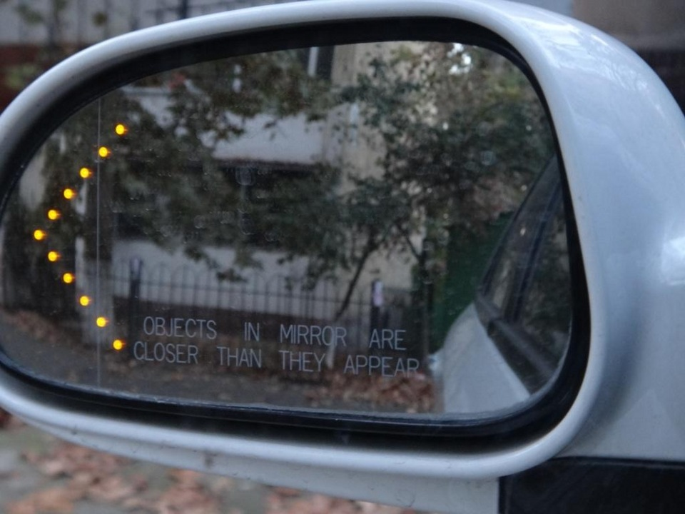 Зеркало с поворотником своими руками