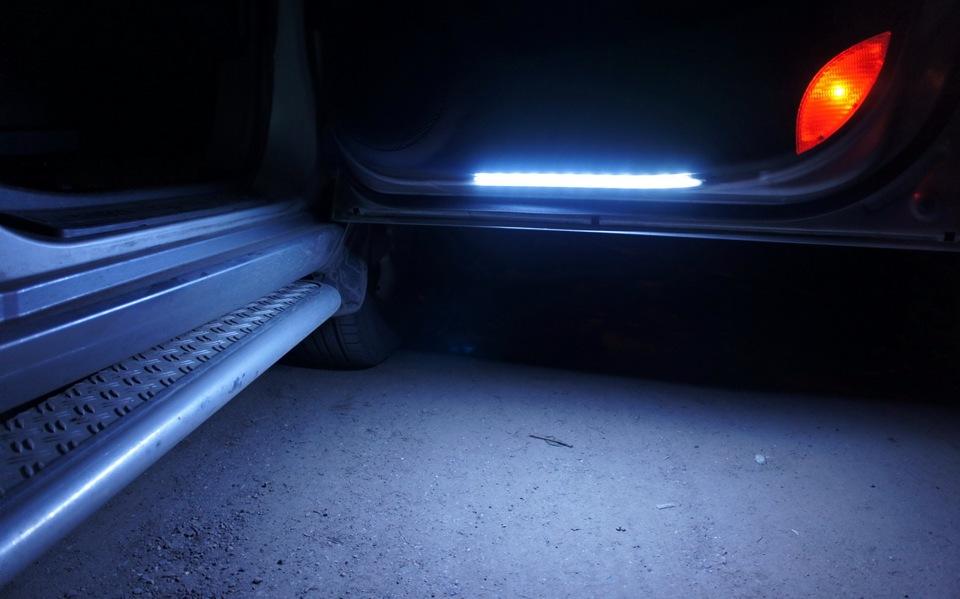 Подсветка дверей автомобиле своими руками