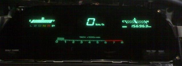 электронное табло на машине