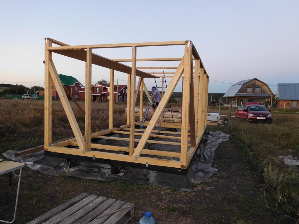 Пошаговое строительство сарая своими руками 80