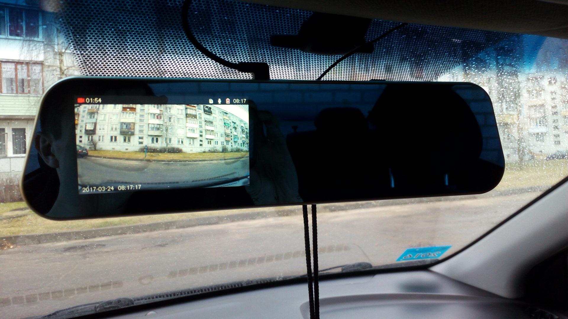 Парктроник и регистратор в зеркало заднего вида корейский регистратор с 2 камерами