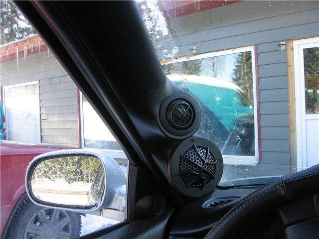 honda civic 7 подиумы на двери