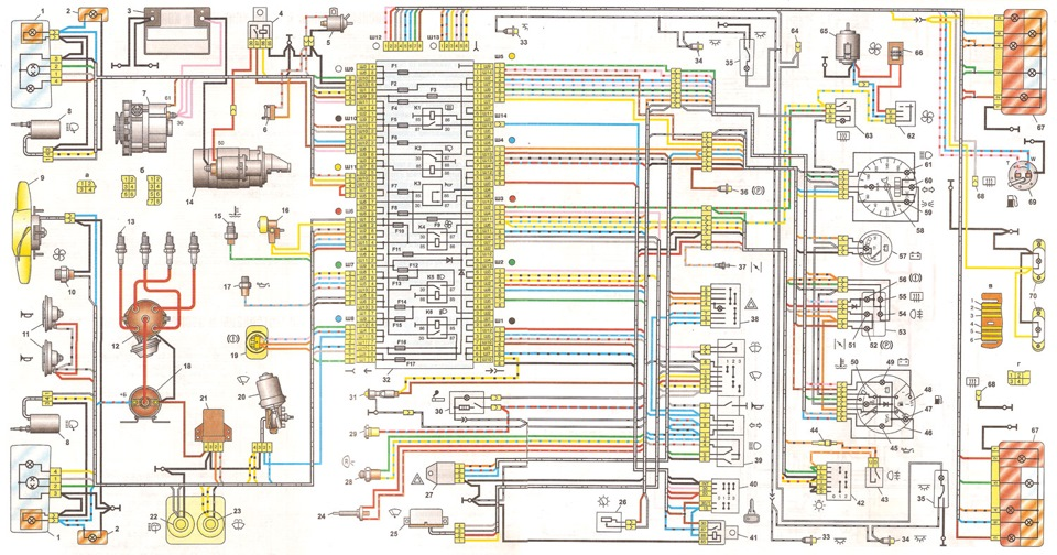 Электро схема ваз 2107 инжектор