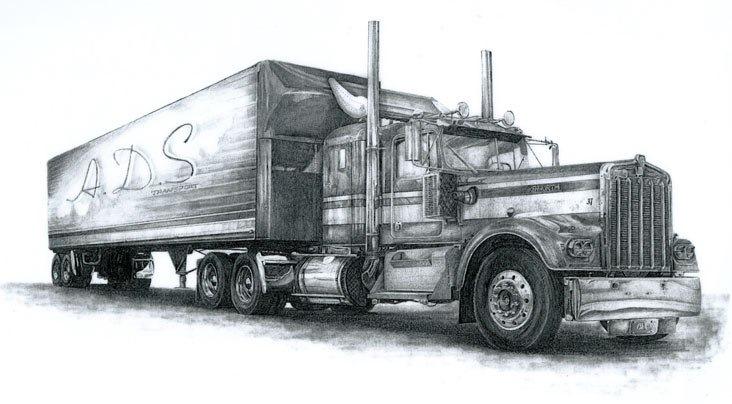 Фото грузовик рисунку тоже
