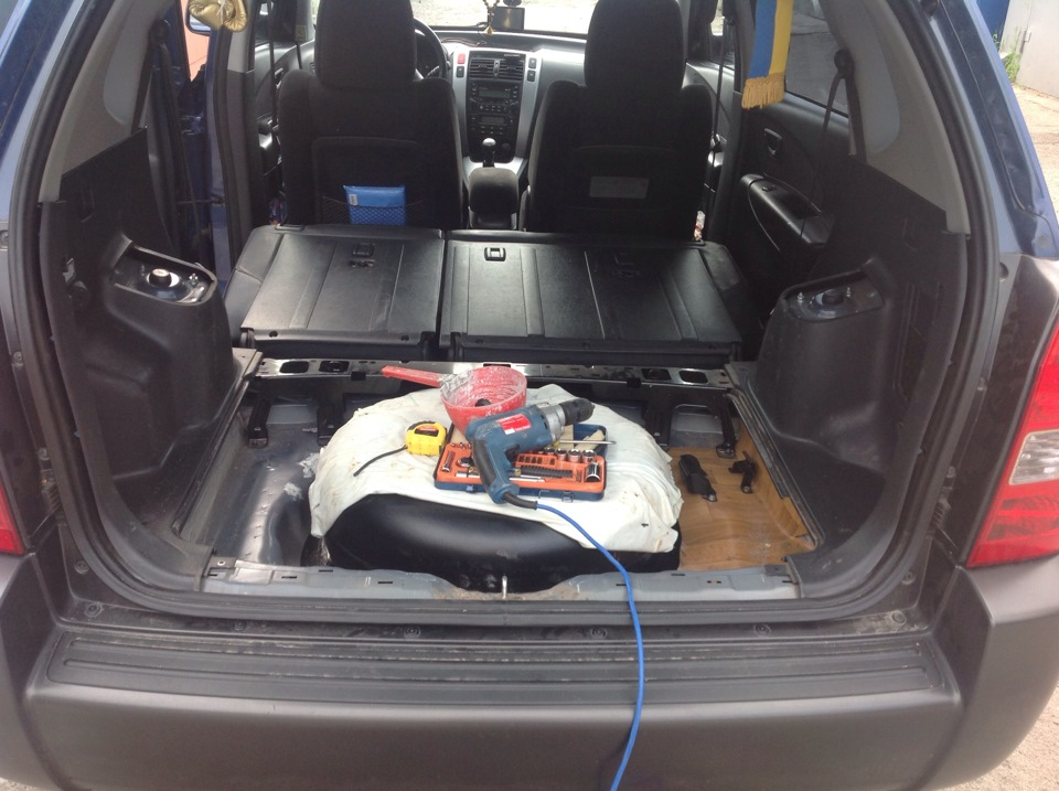 Хендай туксон вид багажника где запаска фото