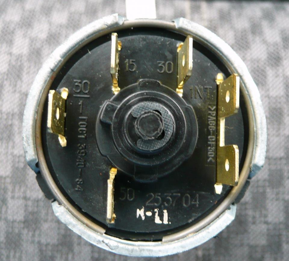 электросхема замка зажигания ваз 2107.