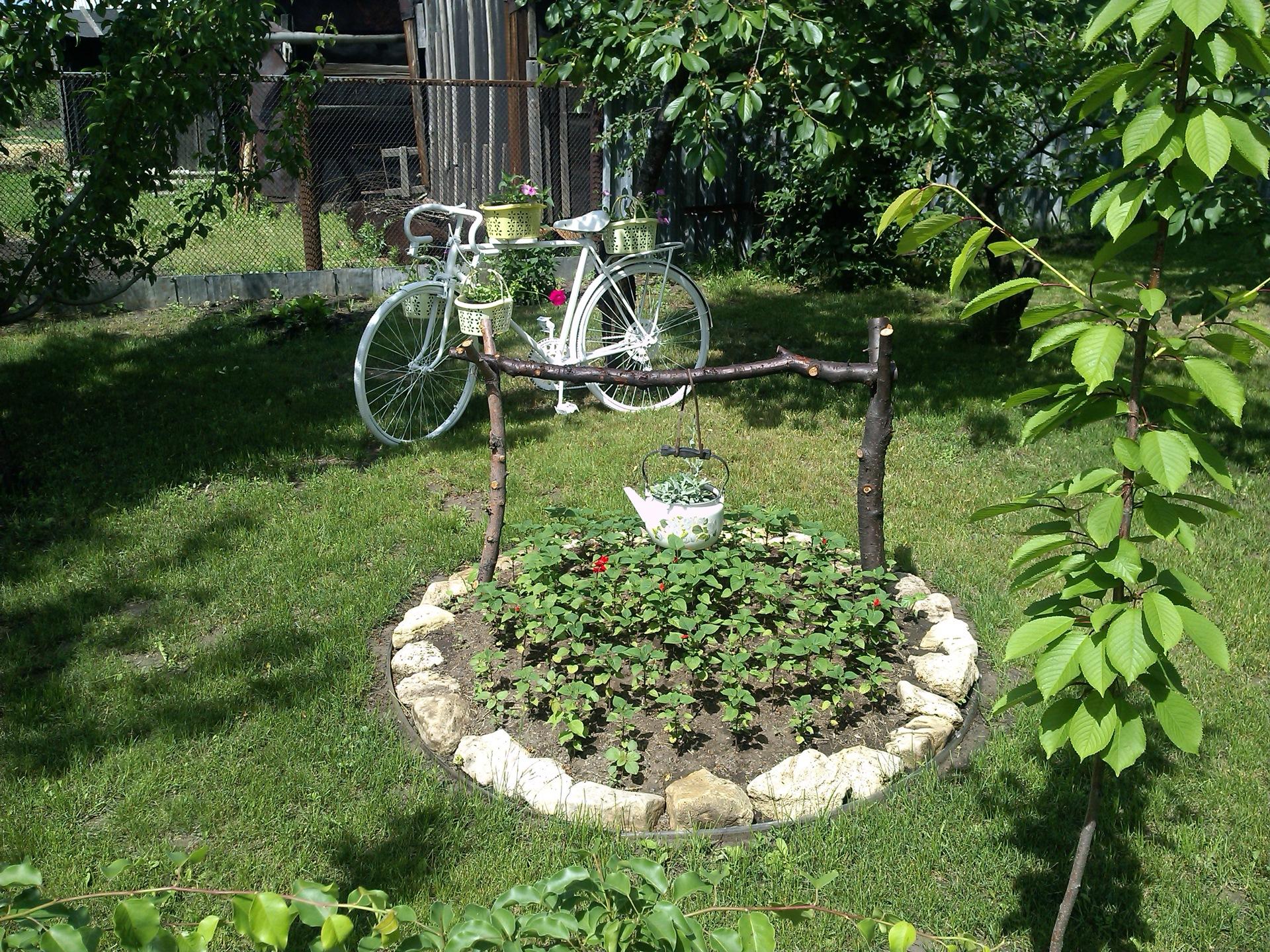 Велосипед кашпо с цветами 52