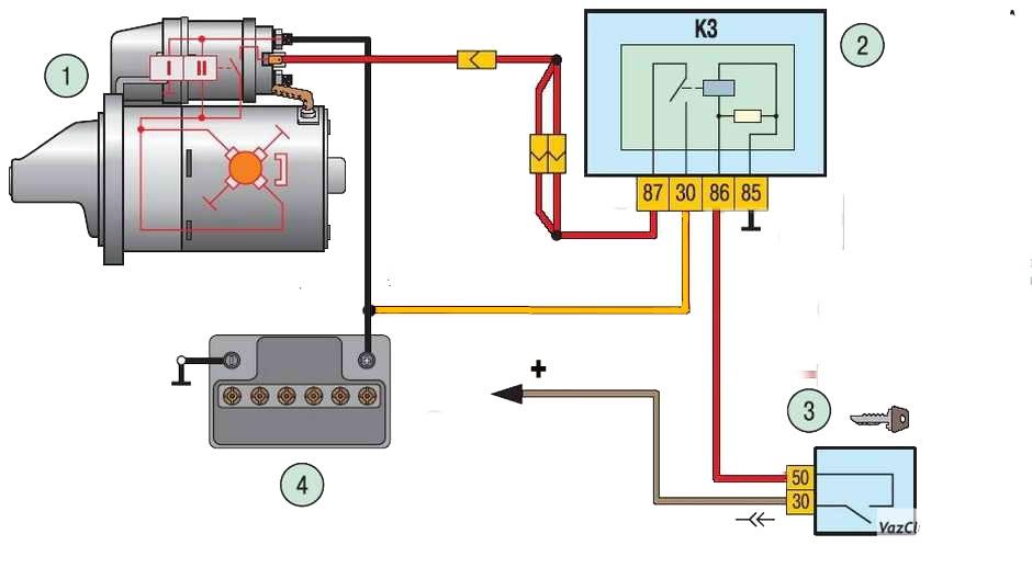 модификация схемы стартера