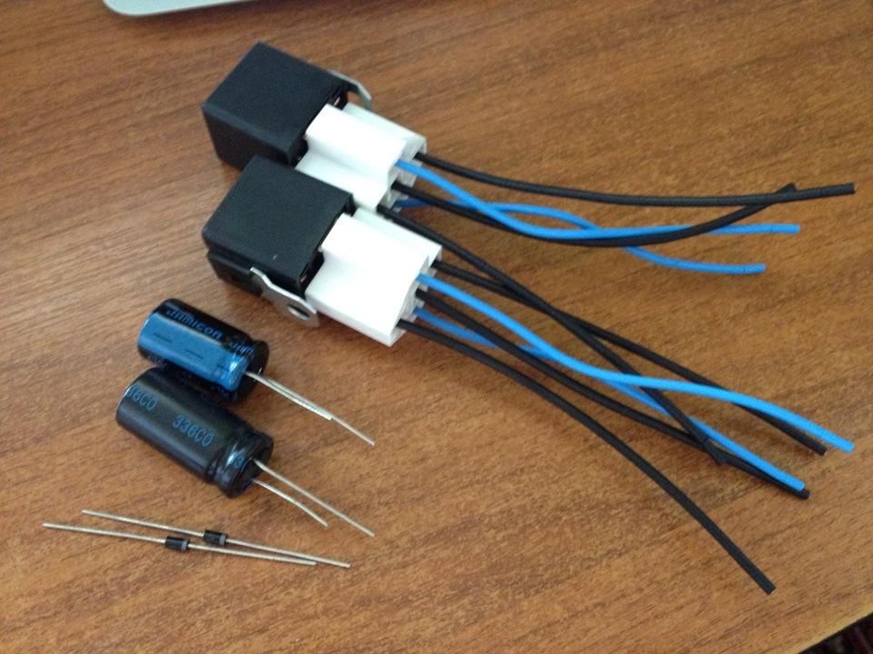 Реле, колодки, конденсаторы