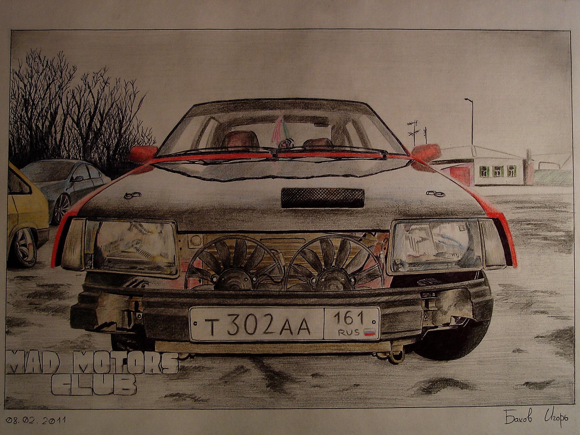 Рисунок ВАЗ 2109 для mad-alexxx — DRIVE2