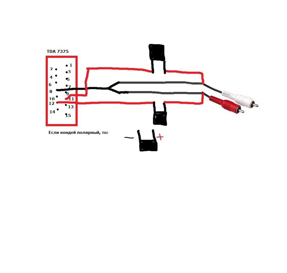 преобразователь акустического выхода в rca схема