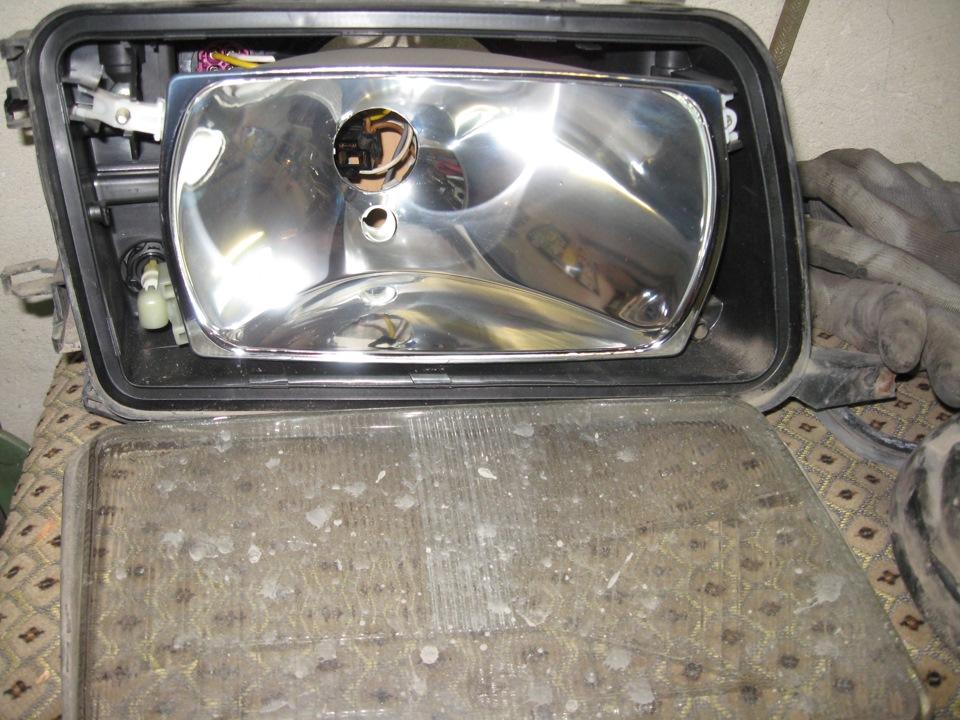установка фар от автомобиля audi-80