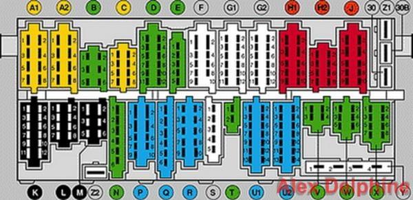 Фото блока предохранителей фольксваген пассат б3 схема