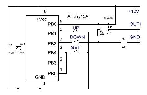 Схемы стопов на микроконтроллере