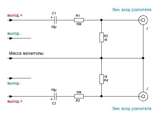 Как сделать линейный вход на автомагнитолу