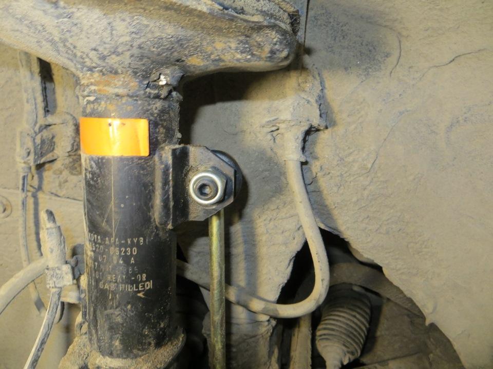 Замена передних стоек стабилизатора (линков) - бортжурнал Toyota Avensis Веник 2004 года на DRIVE2