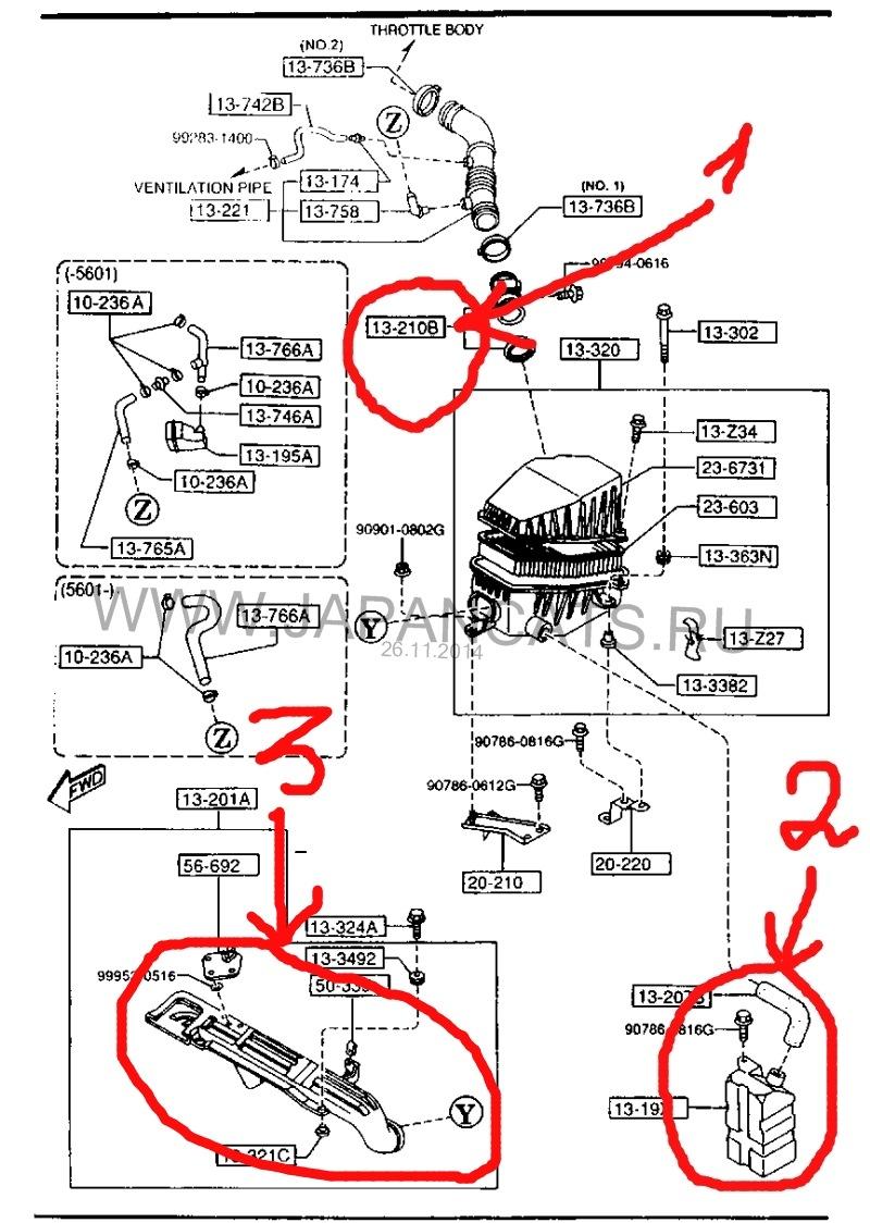 Mazda Mx 3 Engine Diagram V6 20 Kf 1992 Drive2