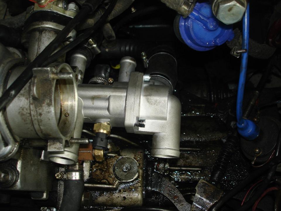 Фото №12 - замена термостата 2110