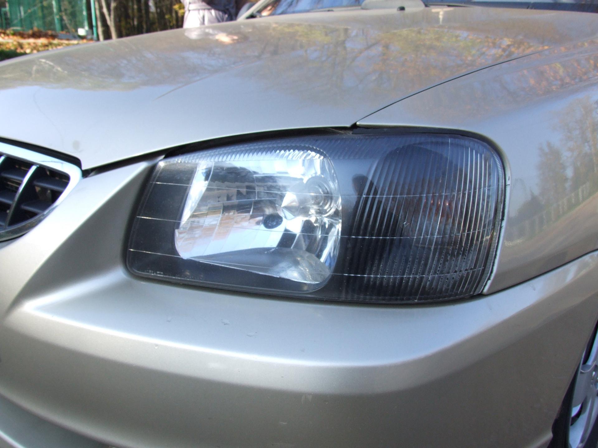 Затемнение передних фар - бортжурнал Hyundai Accent MT3 2006 года на DRIVE2