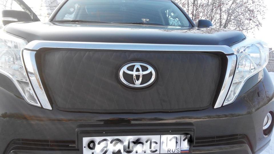 Чехол на зиму для решетки радиатора - бортжурнал Toyota Land Cruiser Prado The Gentleman 2014 года на DRIVE2