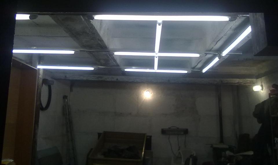 Светодиодные светильники для гаража своими руками
