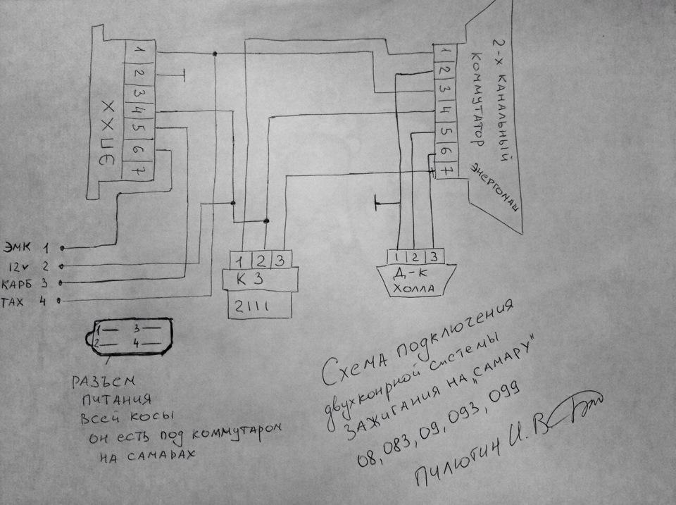 Двухконтурная система зажигания на ваз 2108 карбюратор